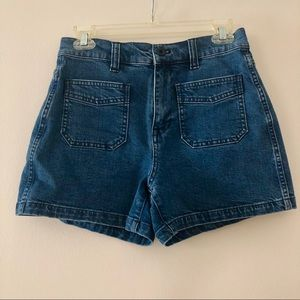 Madewell High-Rise Denim Shorts | size: 26